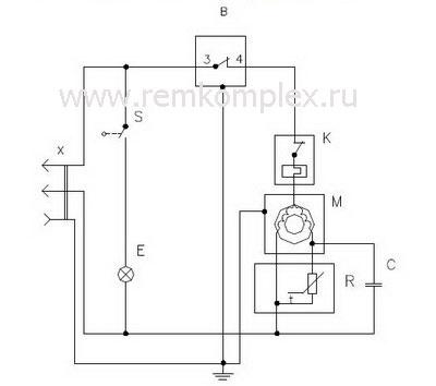электрическая схема терморегулятора