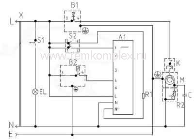 тепловое реле схема электрическая